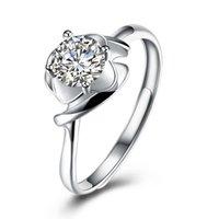 Ringe 925 Sterling Silber Rot Herz Form Hochzeit Ringe Für Frauen Braut Mode Schmuck Engagement Bague Zubehör Zk40