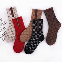 meias japonesas venda por atacado-Tide marca esportes meias japonês letra dupla G meias de algodão personalidade alta tubo tendência meias femininas