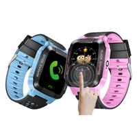 gps relógios de pulso venda por atacado-Crianças GPS Relógio Inteligente Anti-Perdido Lanterna Bebê Inteligente relógio de Pulso SOS Chamada Dispositivo de Localização Rastreador Kid Seguro vs Q528 Q750 Q100 Q42 DZ09 U8