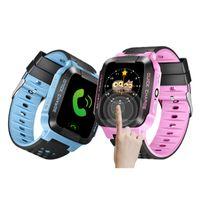 linternas para niños al por mayor-GPS Reloj inteligente para niños Reloj anti-perdida Linterna Reloj inteligente para bebés SOS Ubicación de ubicación Dispositivo Rastreador Seguro para niños vs Q528 Q750 Q100 Q42 DZ09 U8