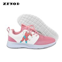 ingrosso pattini piani di stampa animale delle donne-3D Fashion Sneakers Kawaii Stampa Animal Low Top Canvas Scarpe da donna Classic Scarpe Vulcanize
