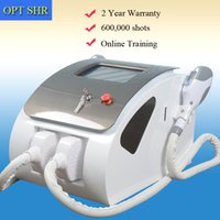 Wholesale ipl hair for sale - OPT SHR IPL permanent hair removal elight Skin Rejuvenation two handles shots OPT SHR Beauty Machine