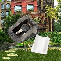 ingrosso giardini in pietra-Key Box Rock Hide In Stone Cassetta di sicurezza Custodia segreta Organizzatore da giardino per esterni Porta falso in pietra