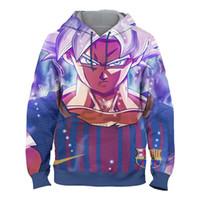 neue kostüme für männer großhandel-Dragon Ball Hoodies 3d Anime Hoodie Männer Frauen Sweatshrits Jungen Geschenke Cosplay Kostüm Hip Hop Trainingsanzüge 2019 Neu