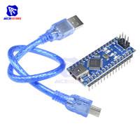 controlador arduino al por mayor-Nano V3.0 3.0 Mini controlador USB ATmega328 ATmega328P FT232RL 5V 16M Micro Controller Board para Arduino original FT232RL ISP