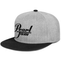 ingrosso disegni perla nera-Pearl Jam nero per uomo e donna cappellino piatto nero snapback design cappelli per bambini in tinta unita crea il tuo costume tuo bianco carino unico p