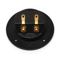 ingrosso prese di casse degli altoparlanti-Nuovo Car Stereo Speaker Box Terminal rotonda Spring Cup connettore subwoofer Hot Plug vendita 001