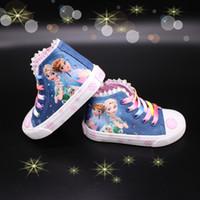 мода красота дети оптовых-Мода красота детская обувь новые туфли для девочек 2018 принцесса мультфильм бег плоские дети кроссовки для девочки сапоги снег