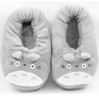 Wholesale neighbor totoro cosplay for sale - Group buy 3D My Neighbor Totoro Soft Plush Slipper Cosplay Cartoon Heating USB Warmer Slippers Winter Indoor Home Shoes