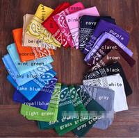ingrosso fascia bianca bandana-Bandane avvolge la nuova sciarpa Fascia Bandana Avvolgere la testa in cotone Wrap Neck Wristband Fazzoletto nero bianco rosa