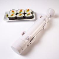 fabricante de sushi de molde de arroz venda por atacado-Sushi Maker Rolo De Rolo De Moldes De Rolos De Bazuca Arroz De Carvão Vegetais DIY Sushi Que Faz A Máquina De Cozinha De Sushi Ferramentas