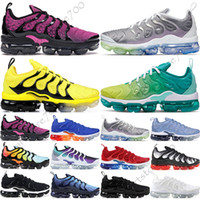 Wholesale 45 sneakers for sale - Group buy TN Plus Geometric Active Fuchsia Black Mens Women Running Shoes Grid Print Lemon Lime Bumblebee Game Royal Trainers Sports Sneakers