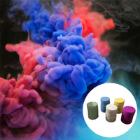 Wholesale Colorful Smoke Cake Smoke Effect Show Round Bomb Stage Photography Prop Aid Halloween Props Combustion Party Decoration