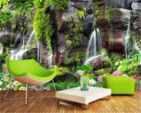 Wholesale bedroom wallpaper environmental for sale - Group buy 3d Wallpaper Mural Landscape Waterfall Beautiful Scenery Living Room Bedroom Decoration HD Environmental Protection Wallpaper