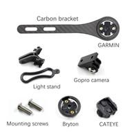 suporte do velocímetro venda por atacado-Estrada lidar com suporte de montagem de computador de carbono suporte de farol de bicicleta mtb guiador adaptador de extensão suporte para gARMin gps borda velocímetro