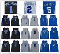 camisetas de baloncesto azul niños al por mayor-Duke Blue Devils Hombres Juventud Zion Williamson Camisetas # 1 Niños RJ Barrett Jersey # 5 Boys Cam Reddish # 2 Man College Basketball Jersey cosido