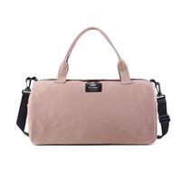 Wholesale shoulder pouch for men resale online - 2019 Canvas Women s Travel Bags Yoga Gym Bag for Fitness Shoes Handbags Shoulder Crossbody Pouch Women Men Sac De Sport Pack