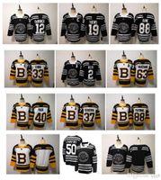 nhl boston toptan satış-NHL 2019 Kış Klasik Chicago Blackhawks Boston Bruins Toews DeBrincat Patrick Kane Seabrook Crawford Pastrnak Bergeron Marchand Jersey