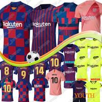 kits de futebol para homens venda por atacado-Barcelona camisa de futebol 8 Iniesta 9 Suarez 26 MALCOM 2019 homens mulheres Kids kits 11 Dembele Coutinho uniformes de futebol camisas Jerseys