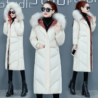 Wholesale-Fashion Women Winter 2019 Coats New Female Jacket Down Cotton Loose Thickening Hood Korean Version Of Large Size Cotton Coat