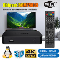 ingrosso tv ram box-scatola MAG scatola tv MAG322 con chipset Linux 3.3 BCM75839 512 MB di RAM HEVC H.265 Bulid in wifi Smart TV Media Player