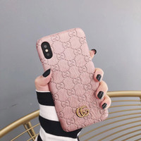 Wholesale models for sale - Group buy luxury brands designer phone cases for samsung galaxy s9 s10 note8 PU leather Fashion Models Phone Back for iphone s plus xs max xr