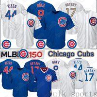 baseball jerseys chicago groihandel-9 Javier Baez Chicago Cubs Jersey 44 Anthony Rizzo 17 Kris Bryant 150. Jahrestag Männer Baseball-Shirts