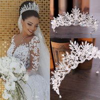 Wholesale glass crystal wedding dresses for sale - Group buy Cheap Silver Bling Tiaras Crowns Wedding Hair Jewelry Crown Crystal Fashion Evening Prom Party Dresses Accessories Headpieces