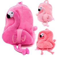 Wholesale children school bags sale for sale - Group buy Cartoon Plush Shoulder Backpack Flamingo Children Cute Kindergarten School Bag Kids Travel Portable Exquisite Knapsack Hot Sale xc Ww