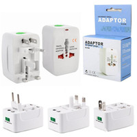 Wholesale universal travel adapter surge resale online - International Travel Power Adapter Universal Wall Charger for Plug Surge Protector with Retail Package US UK EU AU AC Plug