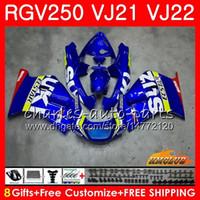 carenado 1989 al por mayor-Cuerpo para SUZUKI RGV250 VJ21 88 89 90 91 92 93 SAPC Marco 20HC.0 RGV-250 RGV 250 VJ22 1988 1989 1990 1991 1992 1993 Fábrica de carenado azul nuevo