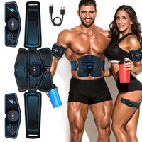 Wholesale muscle equipment resale online - Abdominal Muscle Stimulator Trainer EMS Abs Fitness Equipment Training Gear Muscles Electrostimulator Toner Exercise At Home Gym