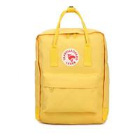 bolsas de viaje para las mujeres niñas al por mayor-Escuela Fashion Girl Bolsas adolescentes mujeres del color del caramelo bolsas dobles de viajes hombro y mochilas impermeables grandes embalajes Capacidad