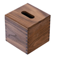 Wholesale Japanese Style Bamboo Square Tissue Box Creative Seat Type Roll Paper Towel Jar Eco Friendly Wooden Table Decoration