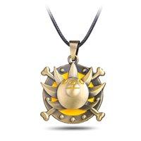 kinder seil ketten großhandel-Einteilige Halskettenhalskette des Animes Cosplay Seilkette THOUSAND SUNNY Schiffshalsketten birthay Geschenk für Kinder
