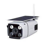 ip67 cctv al por mayor-Desarrollado cámara inalámbrica WiFi solar cámara de seguridad IP CCTV solar construido en batería recargable, tarjeta de almacenamiento SD, IP67 a prueba de agua, aplicación de control remoto