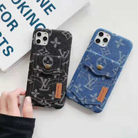 Wholesale new china iphone for sale - Group buy 2019 new denim texture mobile phone case for iphone PRO MAX hard card slot Case for iphone Xs max Xr X plus back cover couqe capa