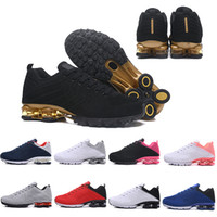 Wholesale fashion shox for sale - New Shox Deliver Men Women Running Shoes Muticolor Fashion Black Pink Gold White Sliver DELIVER OZ NZ Outdoor Trainers Sports Sneakers