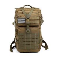 sacos de jogo ao ar livre venda por atacado-40 Liter Tactical assalto Jogos de Guerra Backpack Molle Waterproof Bag 900D Mochila Para Outdoor Caminhadas Camping Caça Backpack