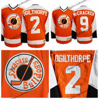 ingrosso punto di aggancio-Mens Syracuse Bulldogs 2 Ogie Ogilthorpe Hockey Maglie a buon mercato Orange 9 9 Tim Dr Hook McCracken cucita maglie Hockey M-XXXL