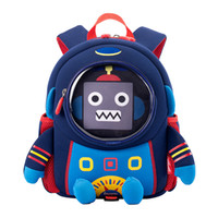 Wholesale cartoon 3d space for sale - Group buy Anti lost D Cartoon Space Robot Children Backpack Kids Girls Boys School Bags Toddler Baby Kindergarten Backpack