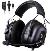 Wholesale gaming computer brands resale online - Gaming Headphone Headset Earphones MM USB with Mic Microphone PC Bass Stereo Laptop Computer PS4 Xbox Brand Somic G936N
