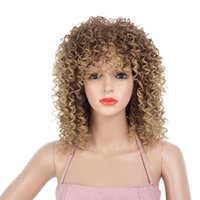 Wholesale amazon wigs for sale - Group buy European and American Amazon hot sale African small volume explosion head women s wig wig