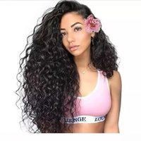 Wholesale lace top human hair wigs resale online - L Brazilian Deep Wave Wigs For Black Women Unprocessed Deep Wave Human Hair Lace Front Wigs Preplucked With Baby Hair Dhgate Top Wigs V