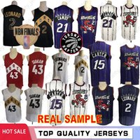 Wholesale real game for sale - Group buy 43 Siakam Vince Carter Real Sample Retro Kawhi Leonard Tracy McGrady Camby VanVleet City Game Basketball Jerseys