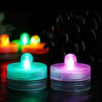 Wholesale underwater vase lights for sale - Group buy LED Submersible Waterproof Tea Lights Electronic Candle Light fish tank underwater lamp for Wedding Party Christmas Vase Light