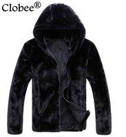 ingrosso rivestimento in nylon nero-Faux Fur Coats 6XL più Jacket Size cuoio degli uomini cappotti di pelliccia 2019 inverno Windbreaker casuale Nero Faux Jaqueta De Couro S67