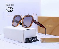 ingrosso marche uniche di occhiali da sole-Occhiali da sole di design Occhiali da sole di marca Occhiali da sole di moda in vetro per donna da donna UV400 estate con scatola e logo unico Design del marchio
