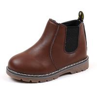 мальчики обувь молния оптовых-Осень Зима Мальчики Мартин сапоги Дети Кожа PU кроссовки для девочек платье Ботильоны Zipper Boots Мода Англия Стиль Дети обувь 2020