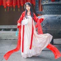 ethnische feste großhandel-Hanfu Dance Kostüm Für Frauen Folk Dress Festival Rave Kleidung Ethnische Kostüme Tang Dynastie Cosplay Hanfu Bühnenkostüm BL1235